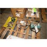 Lot of Assorted (2) Motors & Pump Parts, Includes Parts Bin of S/S Pump Head & Parts,