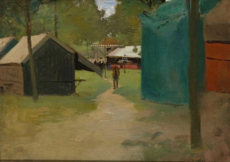 LUIGI LOIR (1845 – 1916) Figures in a Park - Figures in a Park Signed 'Loir [...]