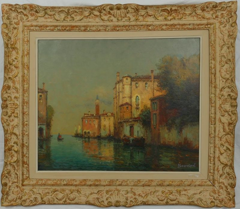 ANTOINE BOUVARD (1870-1955/56) Canal in Venice - Signed (lower right) Oil on [...] - Bild 2 aus 2