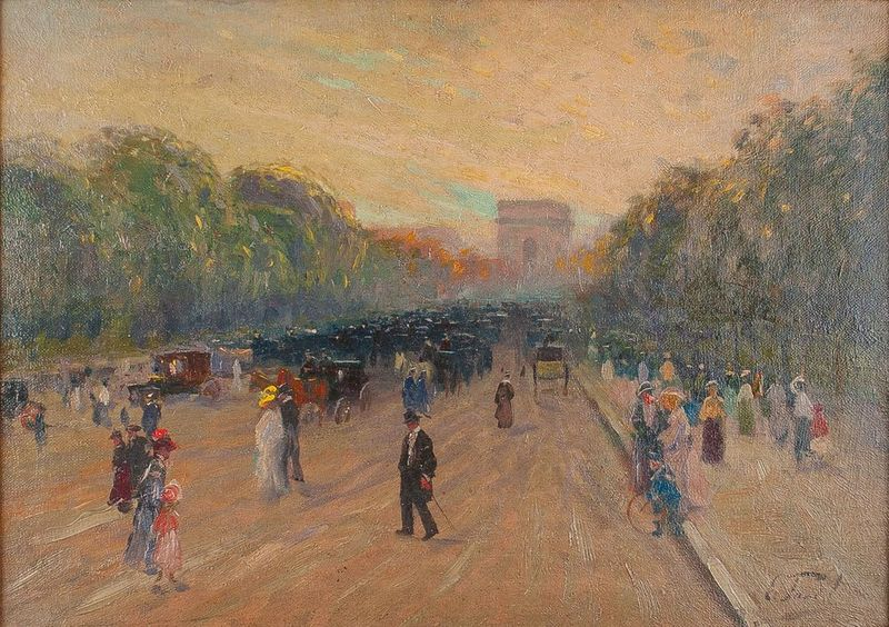 ELIE ANATOLE PAVIL (1873-1948) Arc de Triomphe - Signed (lower right) Oil on [...]
