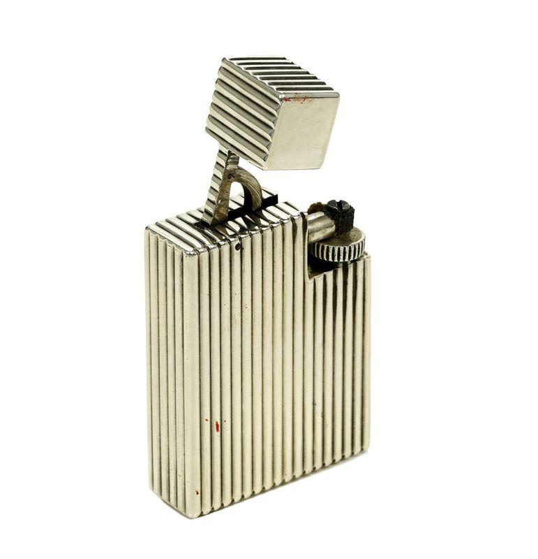 Reeded silver lighter, Cartier - Signed Cartier Paris Déposé, Cartier workshop [...]