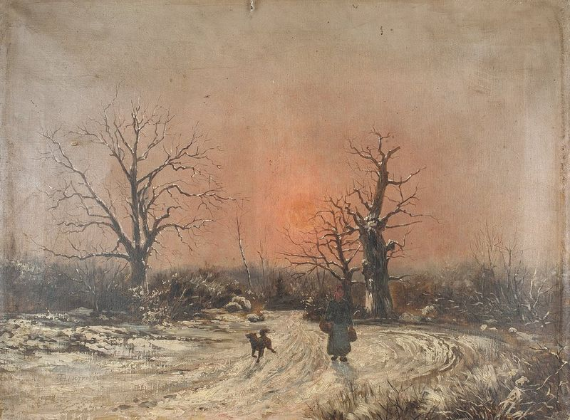 THÉOPHILE LOUIS DEYROLLE (1844-1923) Winter landscape - Signed 'Th Deyrolle ' [...]