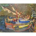 SIMON CLAUDE VANIER (1903-1958) Boats in a port Cadaques - Signed 'Vanier' (lower [...]