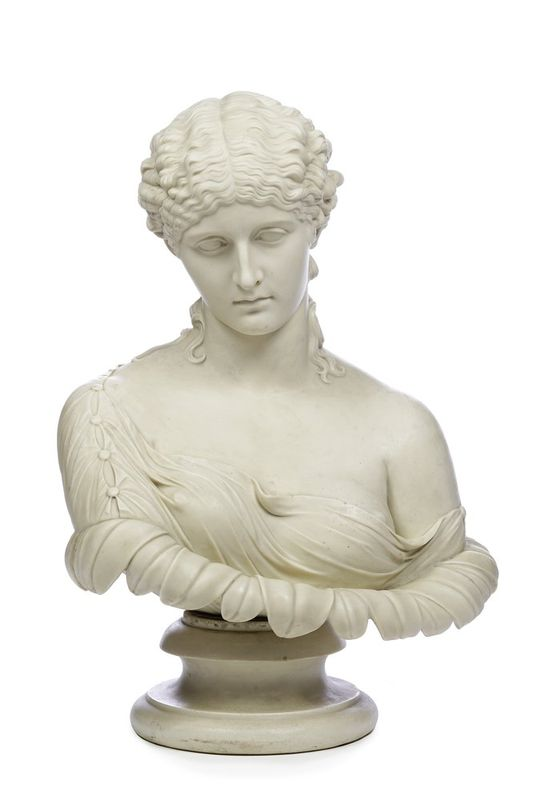 A COPELAND PARIAN BUST OF CLYTIE LATE 19TH CENTURY, IMPRESSED MARKS - After the [...]