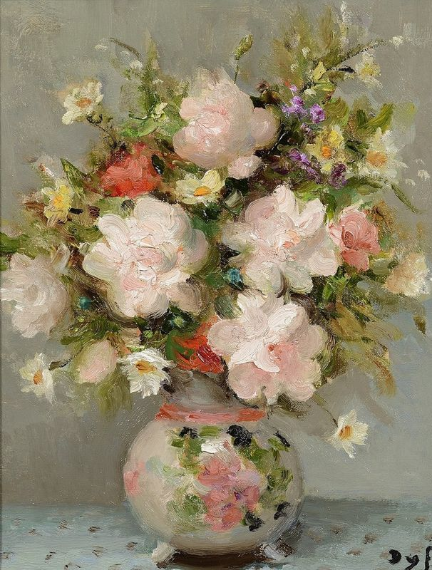 MARCEL DYF (French, 1899-1985) Still life with flowers - Signed lower right Oil [...]