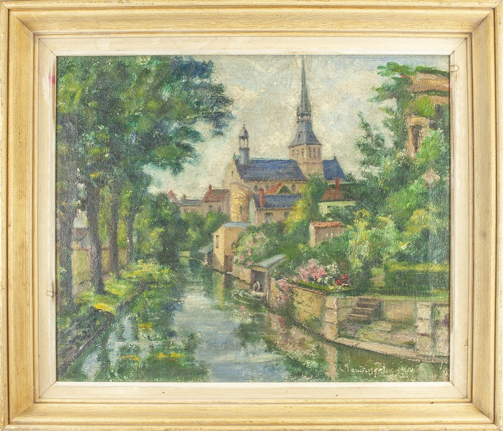CLAUDIUS FÉLIX (1875-1986) Old town riverside - Signed and dated 'Claudius [...] - Bild 2 aus 2