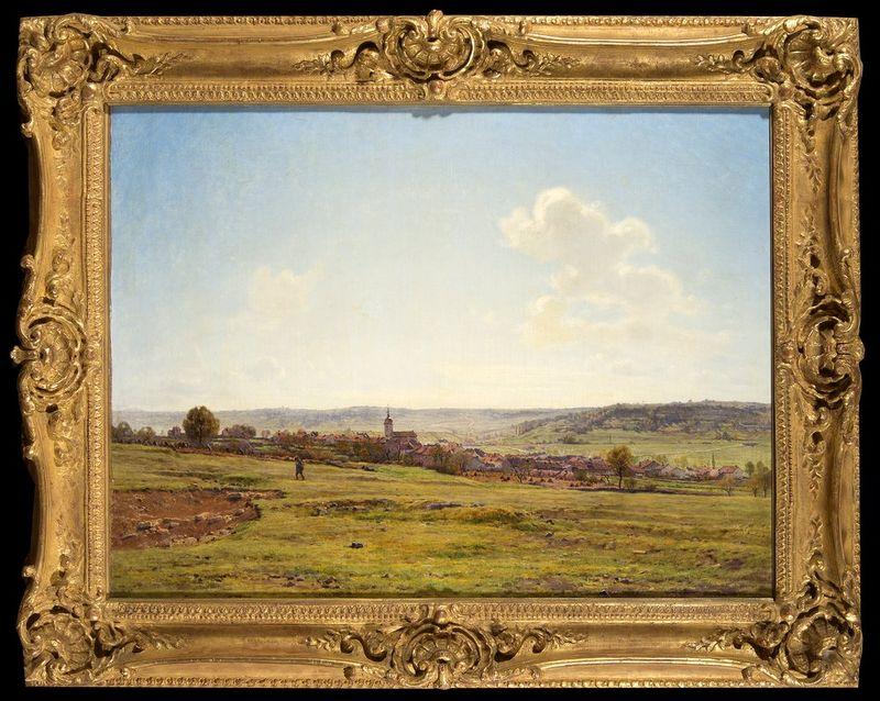 JEAN FERDINAND MONCHABLON (1855-1904) View of the Village of Fresnes, 1895 - Signed [...] - Bild 2 aus 2