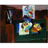 Isaac PAILES (1895-1978) Still life with masks - signed 'Pailles' (lower [...]