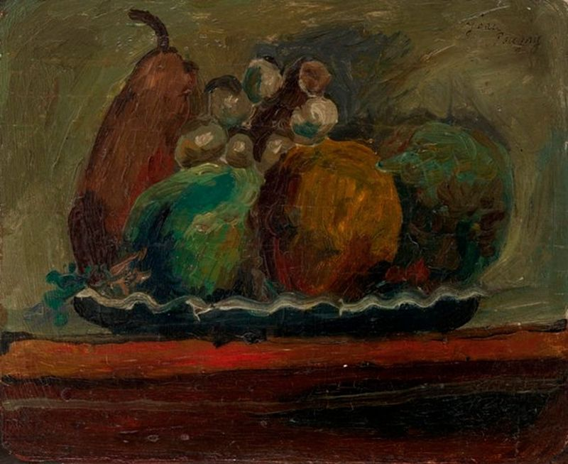 JEAN POUGNY (1892–1956) Plate of Fruits - Signed (upper right) Oil on [...]