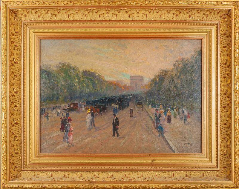 ELIE ANATOLE PAVIL (1873-1948) Arc de Triomphe - Signed (lower right) Oil on [...] - Bild 2 aus 2