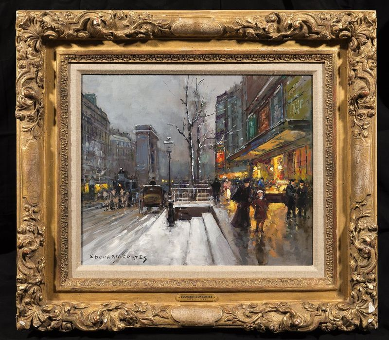 EDOUARD LÉON CORTÉS (1882-1969) La Porte St Martin - Signed 'Edouard Cortes' [...] - Bild 2 aus 2