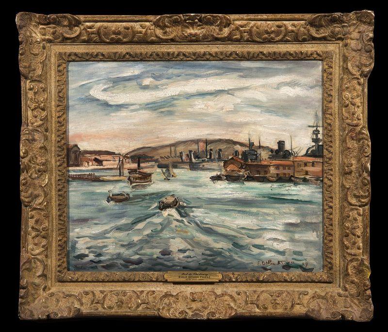 ACHILLE-ÉMILE OTHON FRIESZ (1879–1949) Port de Cherbourg, 1929 - Oil on canvas [...] - Bild 2 aus 2