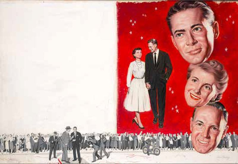 "VERNE TOSSEY (1920-2002) Story illustration - Montage ""Happy couple - The [...]"