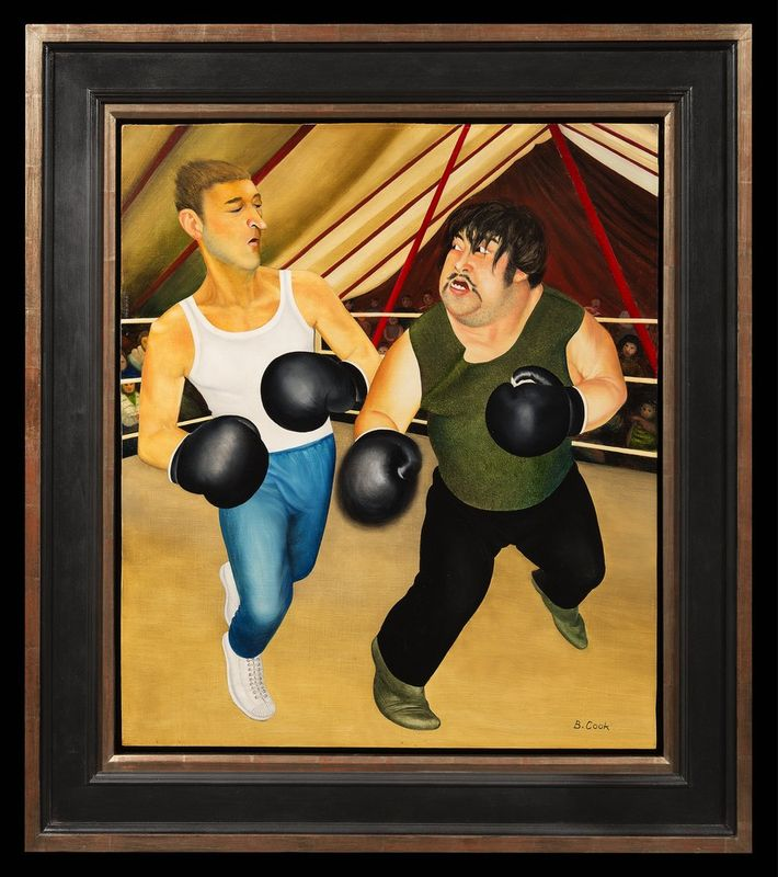 BERYL COOK OBE (1926-2008) Knockout - Oil on board Signed lower right 'B [...] - Bild 2 aus 2