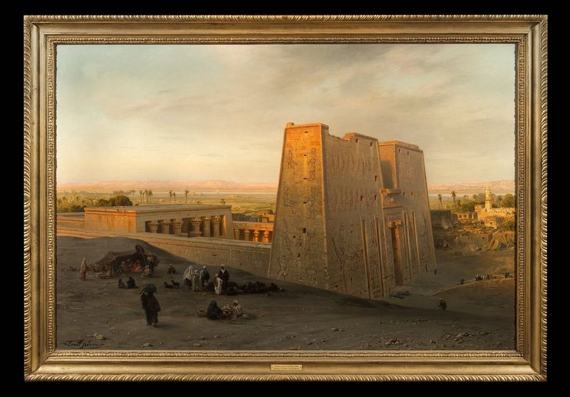 ERNST KARL KEORNER (1847-1909) Temple of Horus at Edfu, 1888 - Signed Oil on [...] - Bild 2 aus 2
