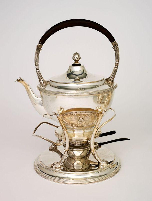 SILVER TEA AND COFFEE SERVICE SET FROM VIENNA BY ALEXANDER STURM - Silver set, 7 [...] - Bild 2 aus 5