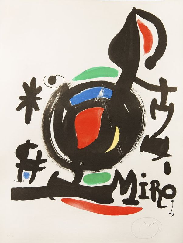 JOAN MIRÓ (1893 - 1983) Abstract - Signed with a monogram in Pencil 'M' [...]