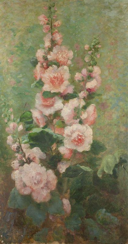 LÉOPOLDINE VILLOTEAU (XIX-XX) Flower bouquet - Signed 'L Volloteau' (lower [...]