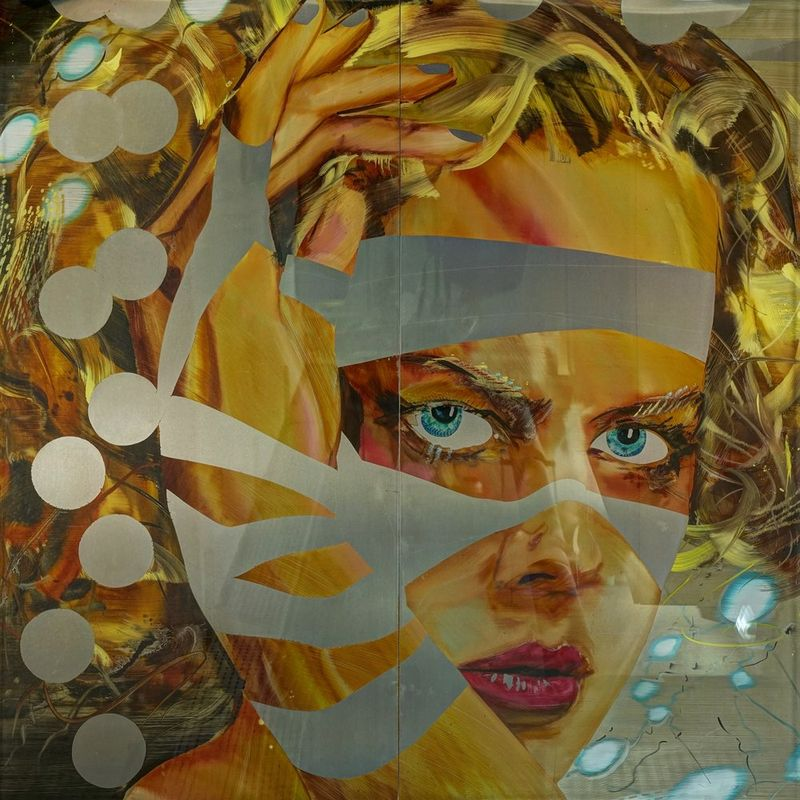 MATTHIAS KÖSTER (B 1961) Nicole Kidman - Mixed media on aluminium under [...]
