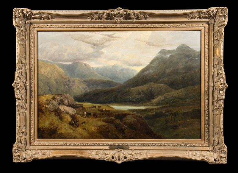 GEORGE SHALDERS (1826-1873) A Welsh Valley Near Betws-y-Coed, 1853 - Signed and [...] - Bild 2 aus 2