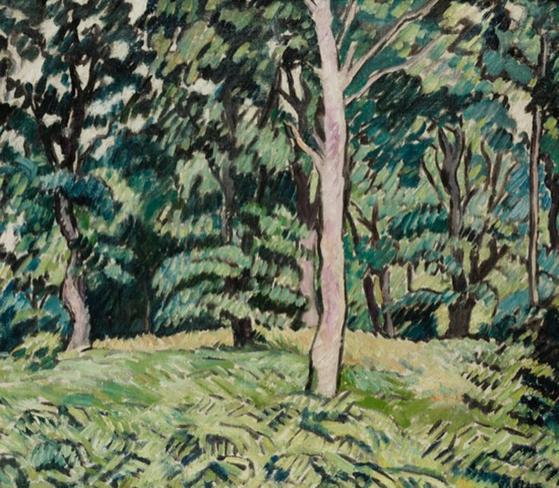 LOUIS VALTAT (1869-1952) Sous-bois au Printemps, ca. 1928 - Oil on canvas 46 x 55 [...]