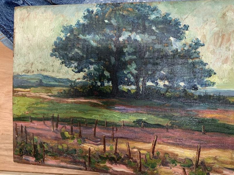 Jean PESKE (1870-1949) Landscape with a grape vine - Signed (lower left) Oil [...] - Bild 2 aus 2