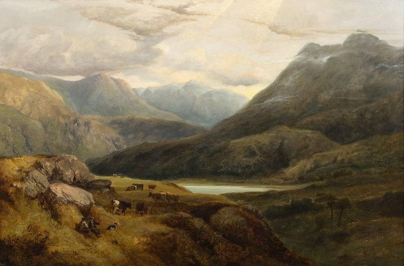 GEORGE SHALDERS (1826-1873) A Welsh Valley Near Betws-y-Coed, 1853 - Signed and [...]