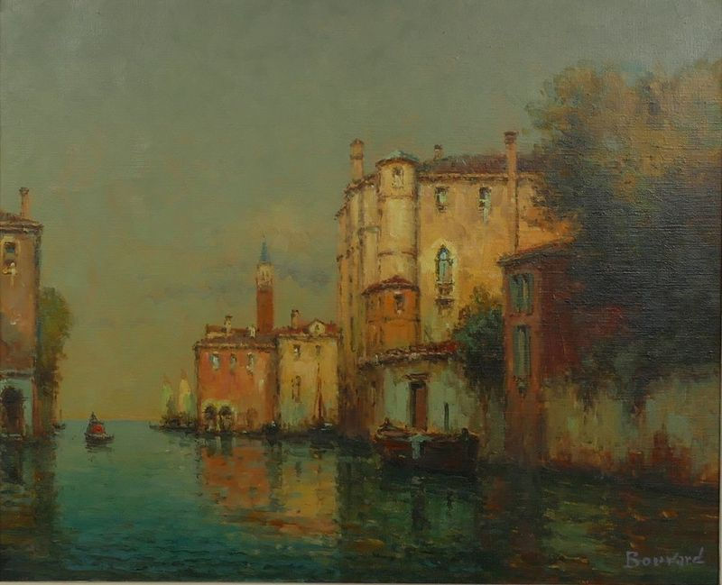 ANTOINE BOUVARD (1870-1955/56) Canal in Venice - Signed (lower right) Oil on [...]