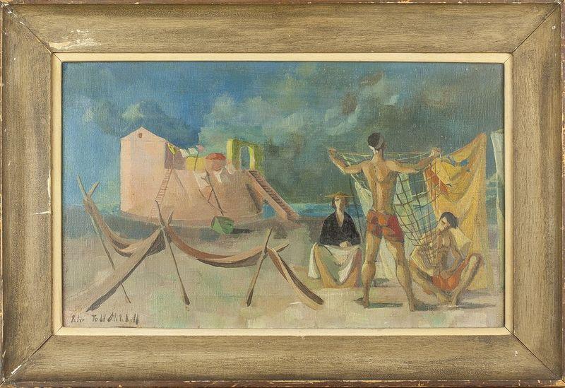 Peter Todd Mitchell (1929- 1988) Untitled (Mediterranean scene) - Signed 'Peter [...] - Bild 2 aus 2