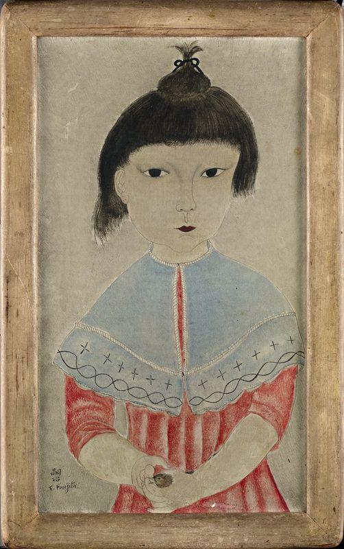 Tsuguharu Foujita (1886-1968) Fillette à l'oiseau (Little girl with bird) - [...] - Bild 2 aus 3
