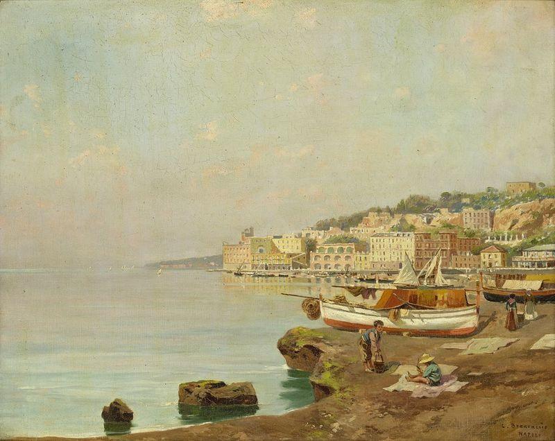 Carlo BRANCACCIO (1861-1920) View of Naples - Signed and inscribed 'C Brancaccio [...]