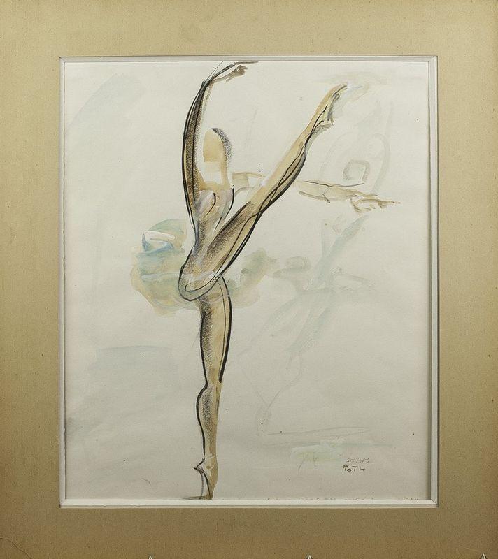 Jean Toth (1899-1972) Ballet dancers (4 watercolours) - Signed (lower left or lower [...] - Bild 5 aus 5