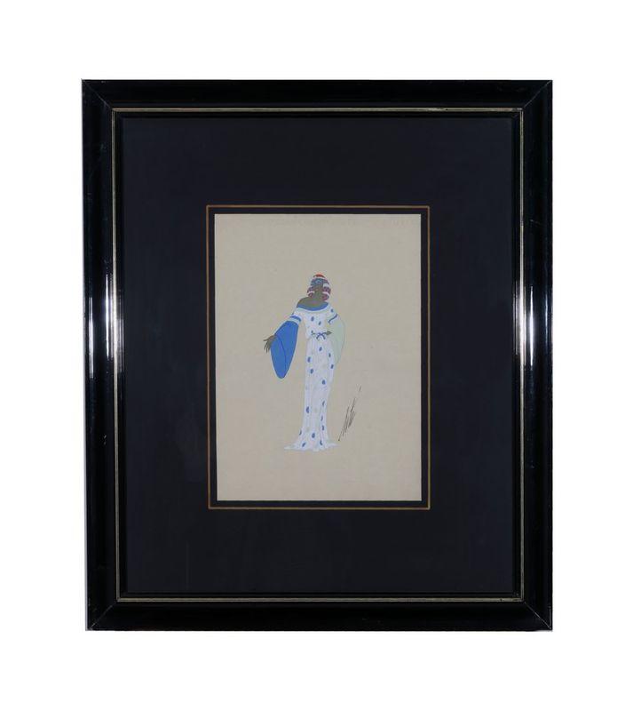 ERTE (1892-1990) Rose du Mal de Servand. 1940 Pencil and tempera on paper - [...] - Bild 2 aus 2