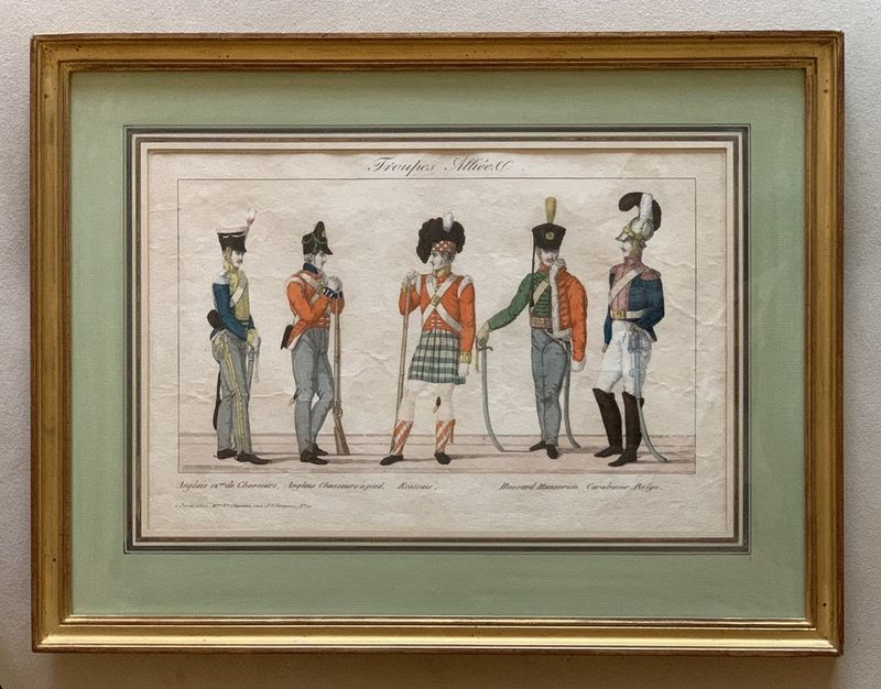 Unknown French Artist Soldiers of the Allied armies. Circa 1815. - Hand-coloured [...] - Bild 2 aus 2