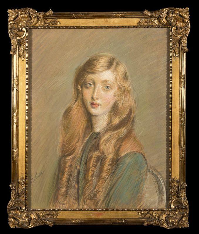 PAUL CESAR HELLEU (1859-1927) Jeune Femme Blonde - Signed 'Helleu' (lower [...] - Bild 2 aus 2