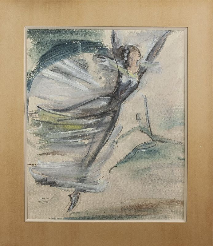 Jean Toth (1899-1972) Ballet dancers (4 watercolours) - Signed (lower left or lower [...] - Bild 3 aus 5