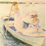 EDWARD CUCUEL (1879 – 1954) Boating on a Sunday Afternoon - Watercolour and [...]