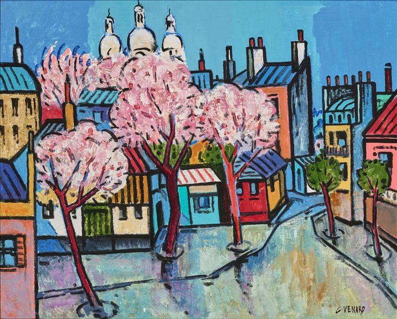 Claude Venard (1913-1999) Spring in Paris - Signed 'C Venard' (lower right) Oil on [...]