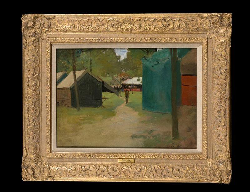 LUIGI LOIR (1845 – 1916) Figures in a Park - Figures in a Park Signed 'Loir [...] - Bild 2 aus 2