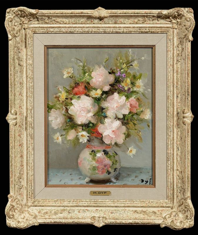 MARCEL DYF (French, 1899-1985) Still life with flowers - Signed lower right Oil [...] - Bild 2 aus 2