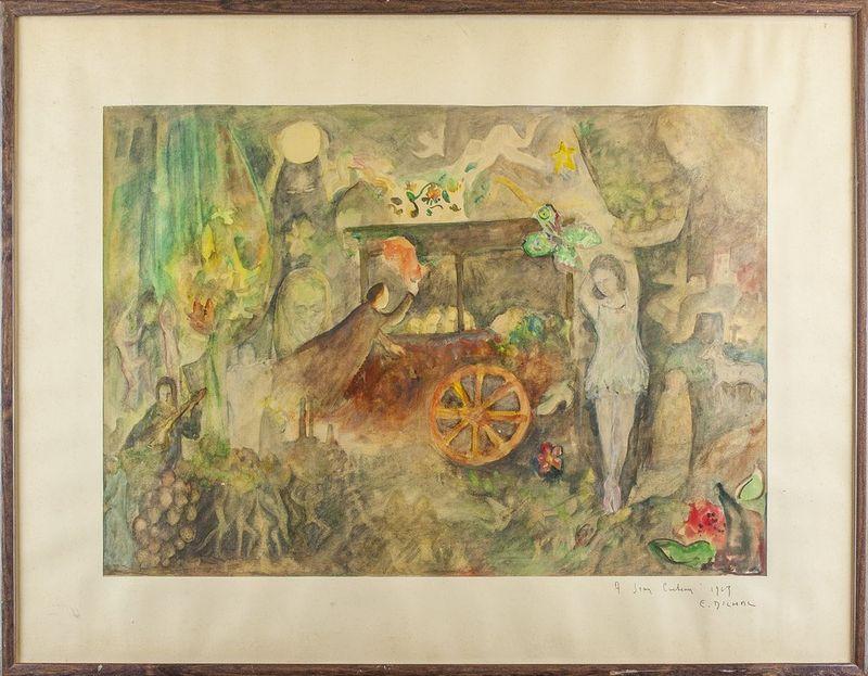 E. DILMAL A Jean Cocteau - Signed and dedicated 'A Jean Cocteau 1963 E, [...] - Bild 2 aus 2