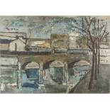 JACQUES DAUFIN (1930) Urban bridge - Signed and dated 'Daufin 30' (lower [...]