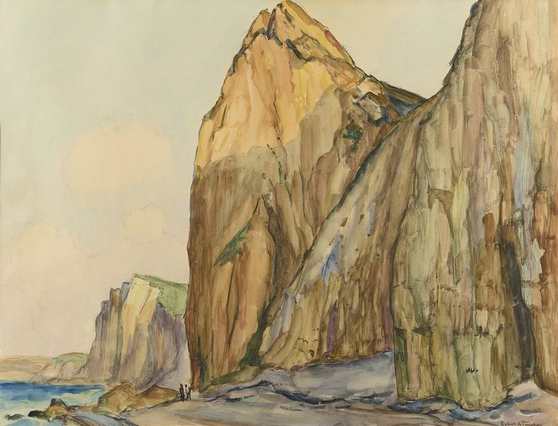 ROBERT ANTOINE PINCHON (1886-1943) Falaises a Varengeville - Signed lower right [...]