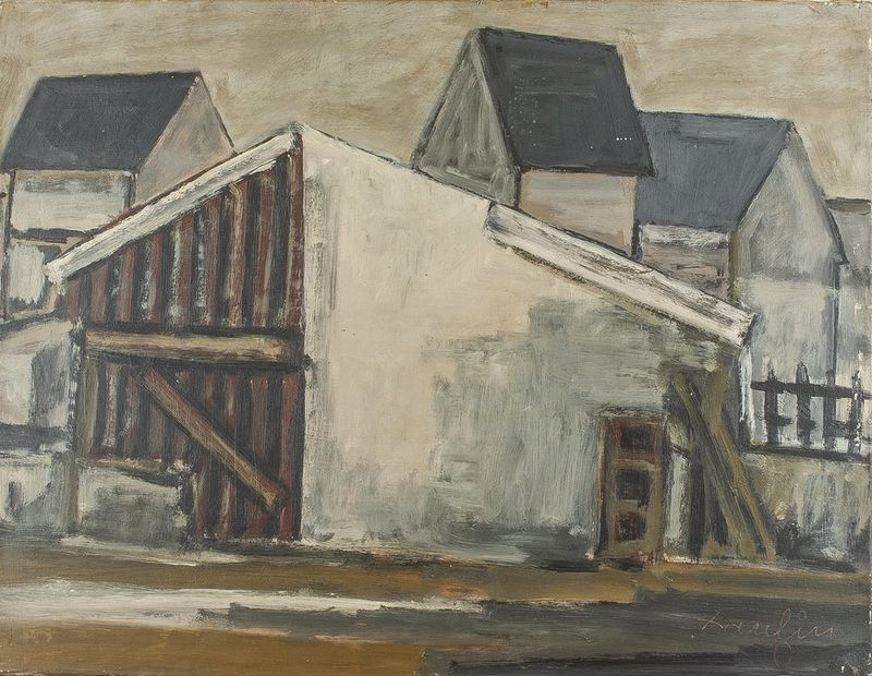 JACQUES DAUFIN Urban neighborhood - Signed and dated 'Daufin' (lower [...]