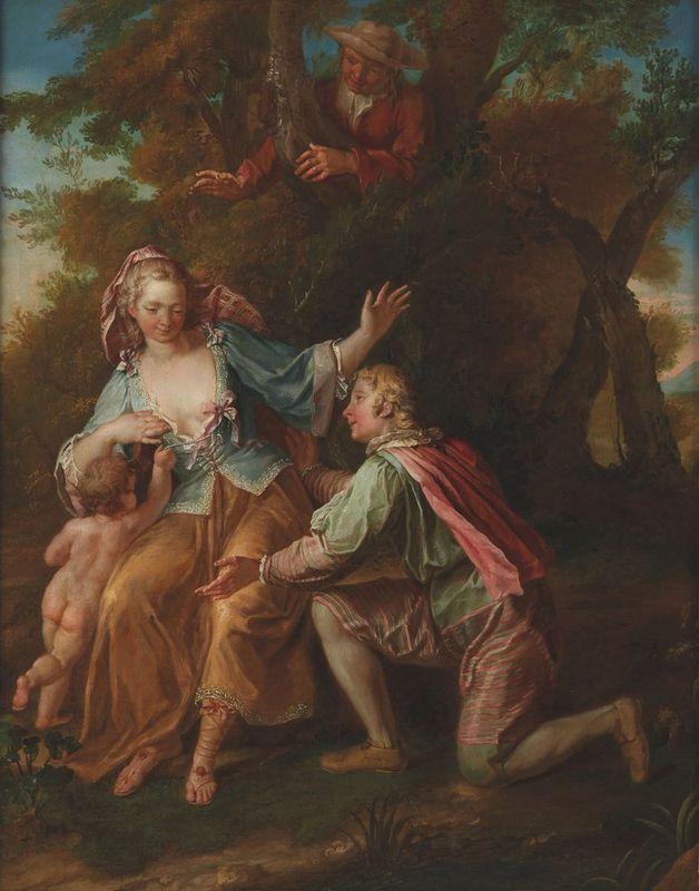 Samuel Masse (1672-1753) Galant scene - Oil on canvas 79 x 63 cm Painted circa [...]