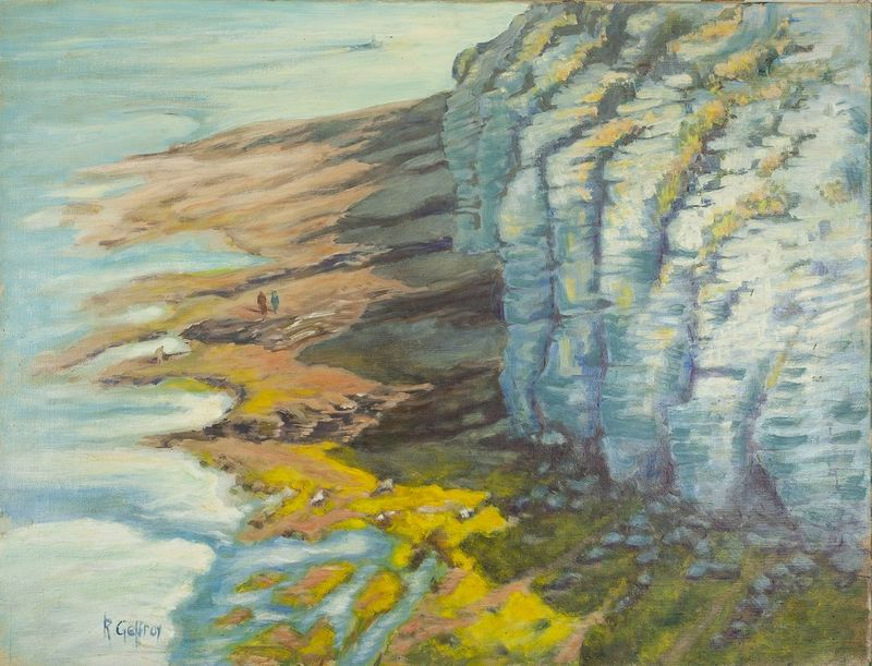 R. GEFFROY Sea shore - Signed 'R Geffroy' (lower left) Oil on canvas 51 x 65.5 [...]