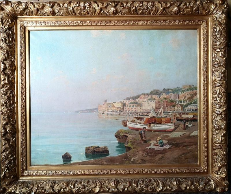 Carlo BRANCACCIO (1861-1920) View of Naples - Signed and inscribed 'C Brancaccio [...] - Bild 2 aus 2