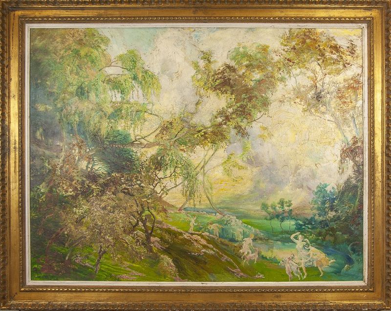 "GUILLERAT Allegory of summer - Indistinctly signed ""O Guillerat"" (lower left) Oil [...] - Bild 2 aus 2"