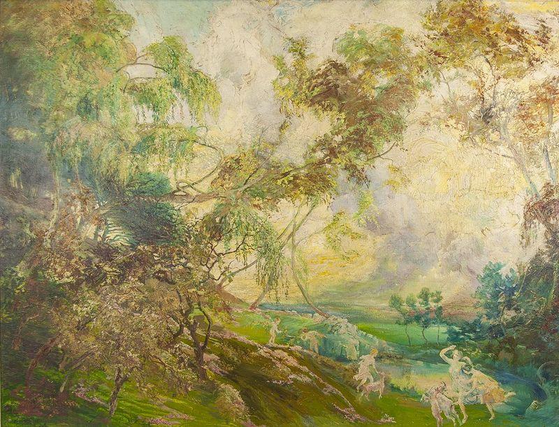 "GUILLERAT Allegory of summer - Indistinctly signed ""O Guillerat"" (lower left) Oil [...]"