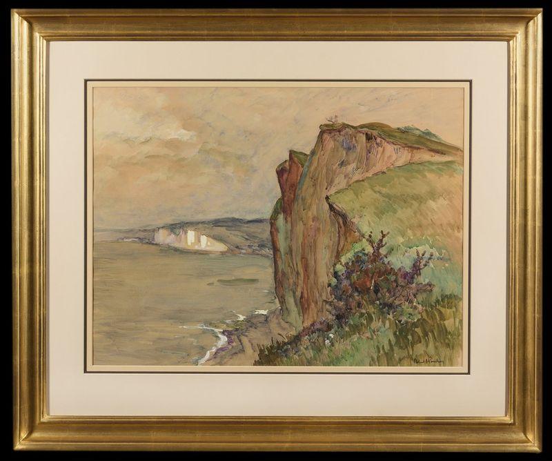 ROBERT ANTOINE PINCHON (1886-1943) Falaises a Varengeville - Watercolour on [...] - Bild 2 aus 2